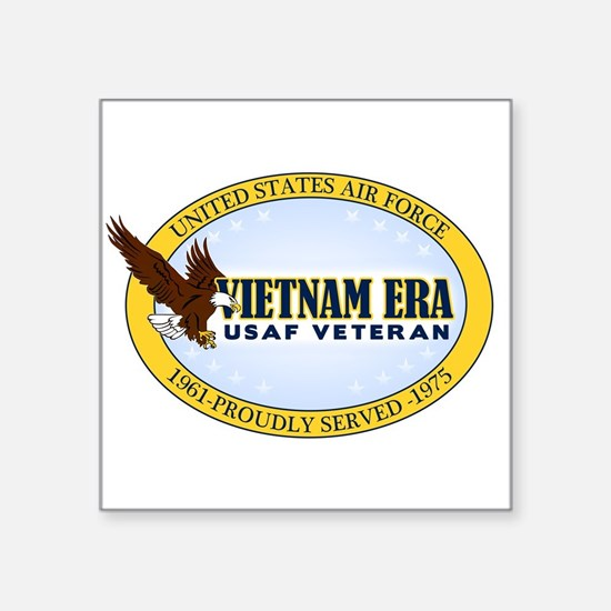 "Vietnam Era Vet USAF Square Sticker 3"" x 3"""