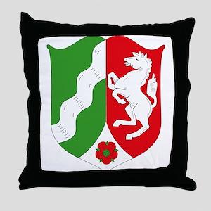 Nordrhein Westfalen Coat of A Throw Pillow