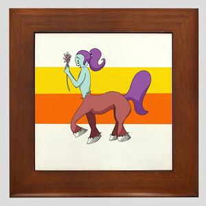 Cute Centaur Girl Framed Tile