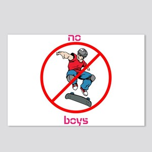No Boys Postcards (Package of 8)