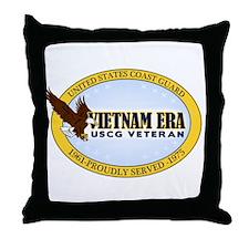 Vietnam Era Vet USCG Throw Pillow