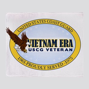 Vietnam Era Vet USCG Throw Blanket