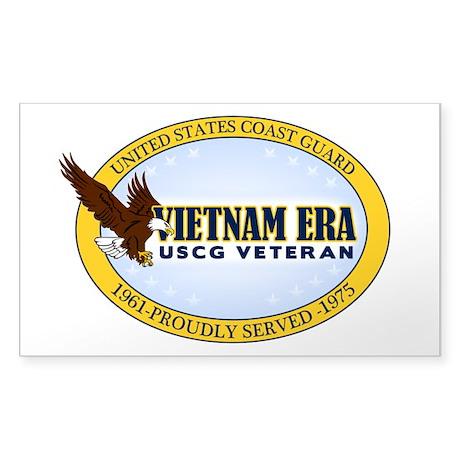 Vietnam Era Vet USCG Sticker (Rectangle)