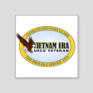 "Vietnam Era Vet USCG Square Sticker 3"" x 3"""
