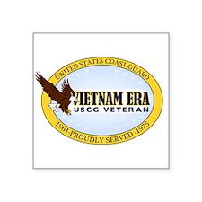 Vietnam Era Vet USCG Square Sticker 3