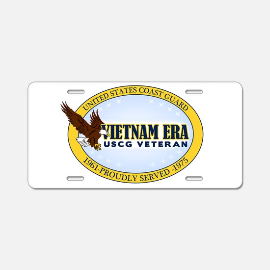Vietnam Era Vet USCG Aluminum License Plate