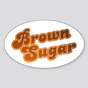 Brown Sugar Oval Sticker
