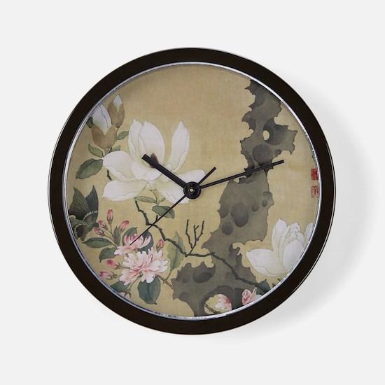 Chen HongShou Leaf Album Painting Wall Clock
