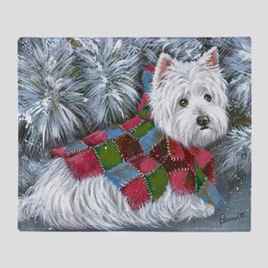 Patches Rescue Westie Throw Blanket