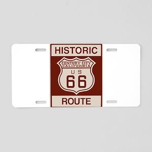 Century City Historic Route 66 Aluminum License Pl