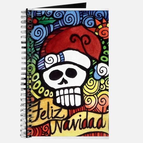 Feliz Navidad Sugar Skull Christmas Santa Journal