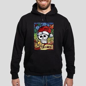 Feliz Navidad Sugar Skull Christmas Santa Hoodie (