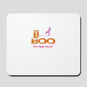 Halloween Breast Cancer Awareness Tee Mousepad