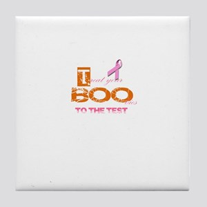 Halloween Breast Cancer Awareness Tee Tile Coaster