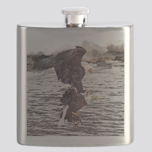 Striking Eagles Flask