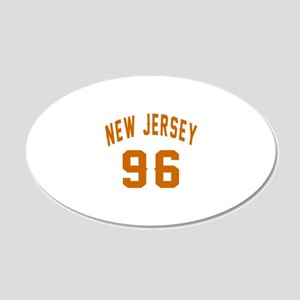 New Jersey 96 Birthday Desig 20x12 Oval Wall Decal