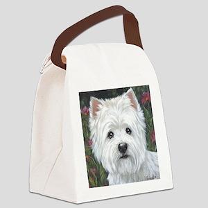 Sweetpea Westie Canvas Lunch Bag