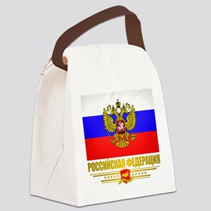 Russian Flag COA Canvas Lunch Bag