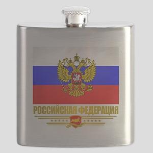 Russian Flag COA Flask