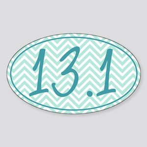 13.1 Blue Chevron Sticker (Oval)