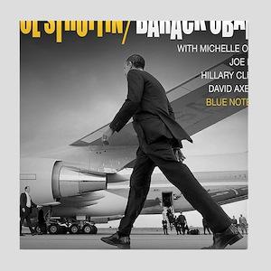 Barack Obama COOL STRUTTIN' Jazz Album Cover Tile