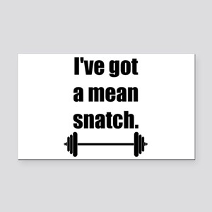 Mean Snatch Rectangle Car Magnet