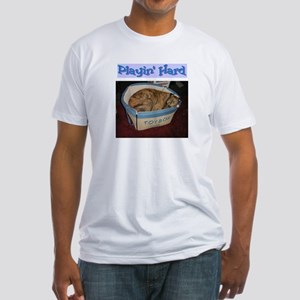 Greyhound Playin' Hard Fitted T-Shirt