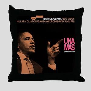 Barack Obama UNA MAS Jazz Album Cover Throw Pillow