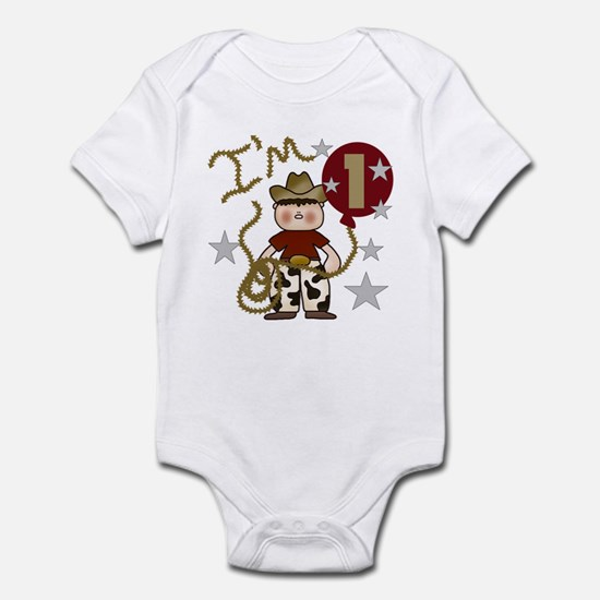 Cowboy First Birthday Infant Creeper
