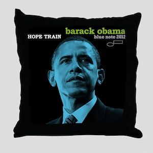 Barack Obama HOPE TRAIN Jazz Album Cover Throw Pil