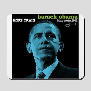 Barack Obama HOPE TRAIN Jazz Album Cover Mousepad
