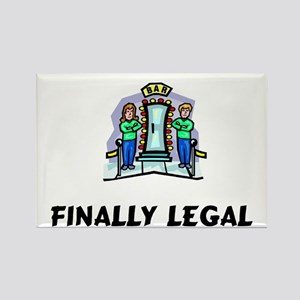 Finally Legal Rectangle Magnet