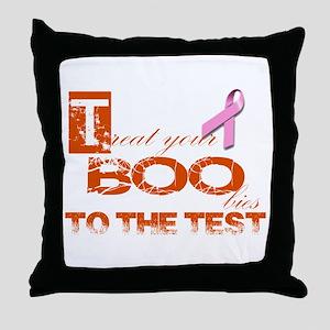 Halloween and Breast Cancer Awareness Throw Pillow
