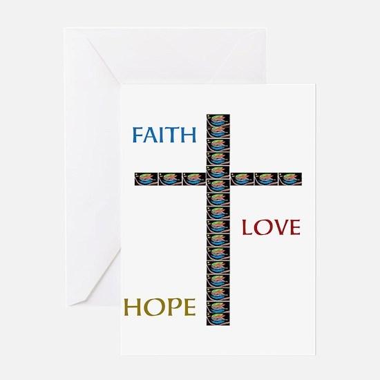 OYOOS Faith,Love,Hope design Greeting Card