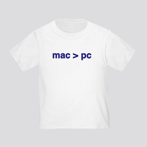 mac > pc - Toddler T-Shirt