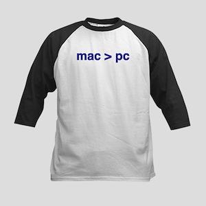 mac > pc - Kids Baseball Jersey