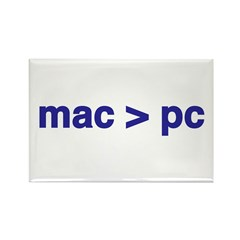 mac > pc - Rectangle Magnet (10 pack)