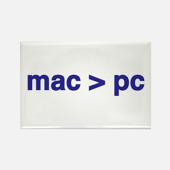 mac > pc - Rectangle Magnet