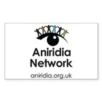 Aniridia Network logo & Sticker (Rectangle 10 pk)