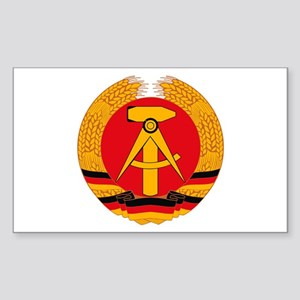 East German Coat of Arms Rectangle Sticker