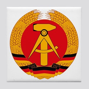 East German Coat of Arms Tile Coaster