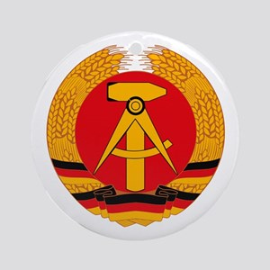 East German Coat of Arms Ornament (Round)