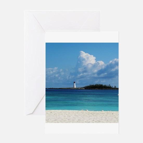 Nassau Bahamas Beach Lighthouse Greeting Card