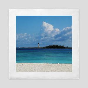 Nassau Bahamas Beach Lighthouse Queen Duvet