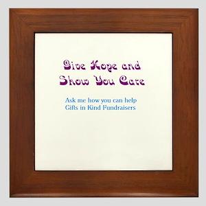Purple/Teal Give Hope Framed Tile