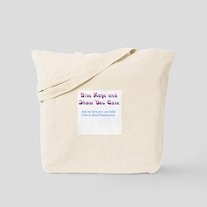 Purple/Teal Give Hope Tote Bag
