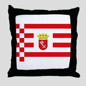 Bremen Flag Throw Pillow