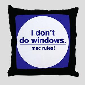 Mac Rules - Throw Pillow