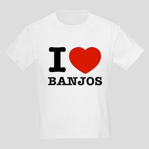 I Love Banjos Kids Light T-Shirt