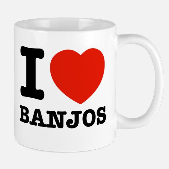 I Love Banjos Mug